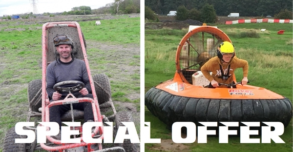 Hovercraft & Off Road Kart Racing (Age 14+)