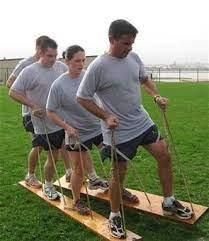 Centipede Team Plank Race